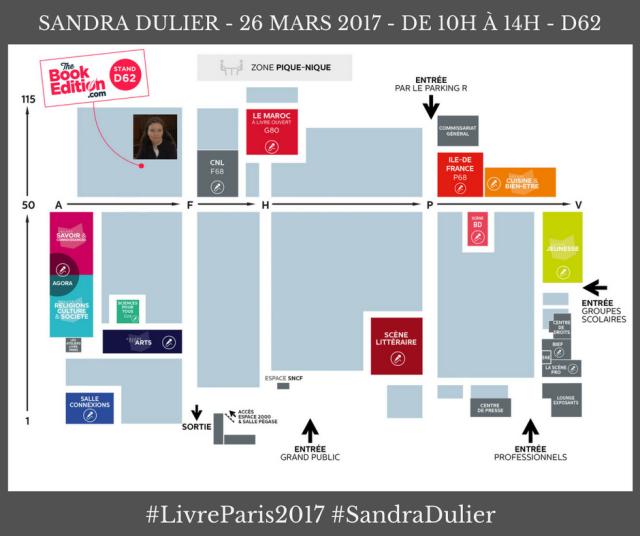 Sandra Dulier en dédicace au Salon du Livre de Paris le dimanche 26 mars 2017 de 10h à 14h, stand TheBookEdition. Livre, poésie, Carnets poétiques, Fleur de poésie source de vie, Fleurs d'écume.